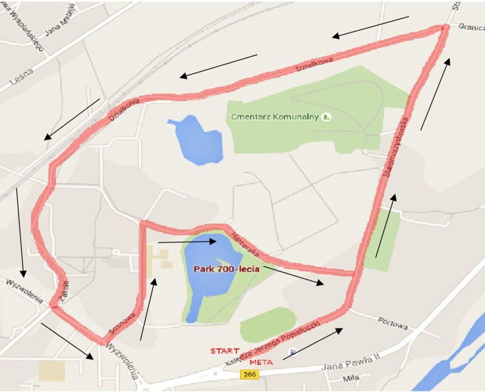 Trasa biegu na 5 km
